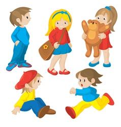 animated children vector image