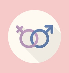 Gender symbol flat icon vector
