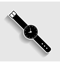 Watch sign sticker style icon vector