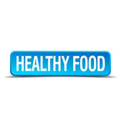 Healthy food blue 3d realistic square isolated vector
