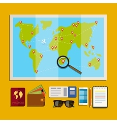 Concept of planning vacation vector