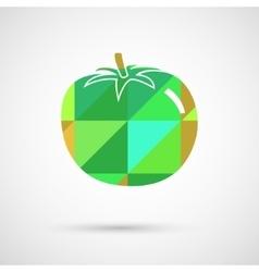 a big ripe tomato vector image