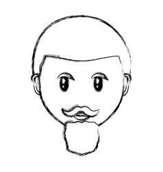 adult face cartoon vector image