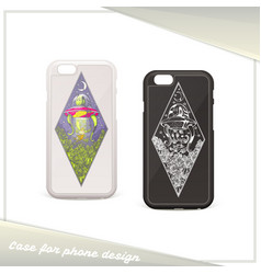 alien case for phone vector image vector image
