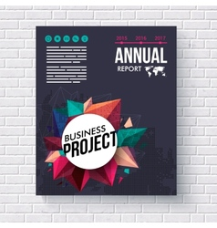 Annual report design template for mining vector