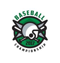 Baseball championship 2017 logo design element in vector
