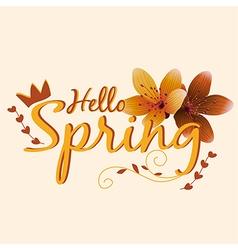 Beautiful spring design for apparel vector