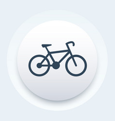 bicycle icon bike pictogram vector image vector image