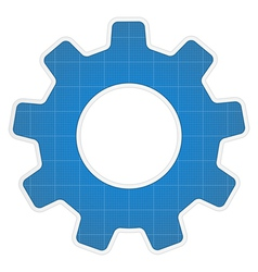Blueprint Gear Icon vector image vector image