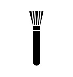 brush cosmetics icon black vector image