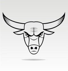 Bulls head mascot vector