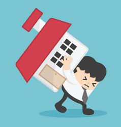 Businessman home loan liability real estate value vector