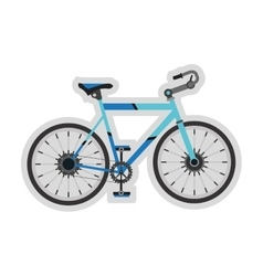 detailed bike icon vector image