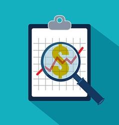 Examining economic statistic Financial examiner vector image