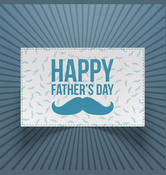 happy fathers day realistic festive banner vector image vector image