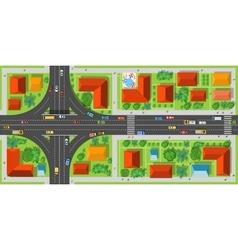 Highway junction roads vector