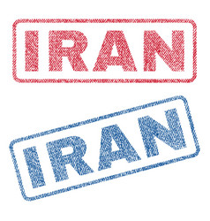 Iran textile stamps vector
