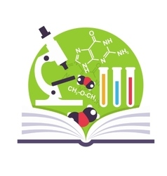 Organic Chemistry Emblem vector image vector image
