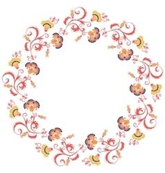 Oriental floral frame design element vector image