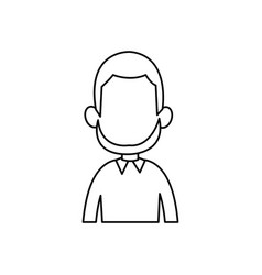 outline man male avatar style vector image vector image