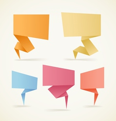 paper speech clouds vector image vector image