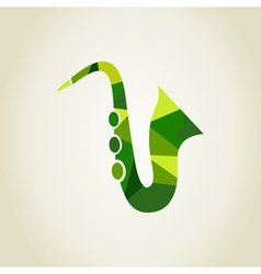 Saxophone the abstract vector image
