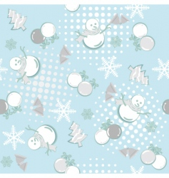 seamless winter vector image vector image