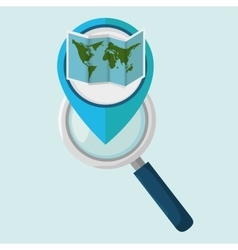 search pin travel location vector image