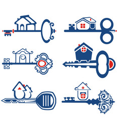 set of real estate related vector image