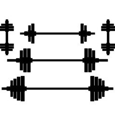 silhouettes of weights second variant vector image vector image