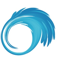 Splash blue water logo vector image