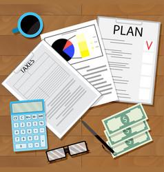 tax plan vector image vector image