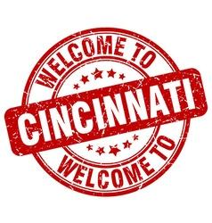 welcome to Cincinnati vector image vector image