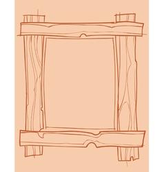 Wooden frame outline drawing vector