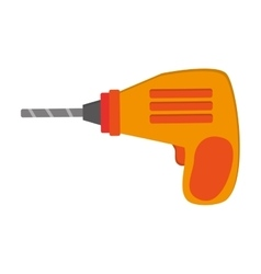 Hand drill icon vector