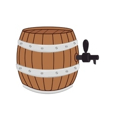 Icon barrel beer drink liquid isolated vector