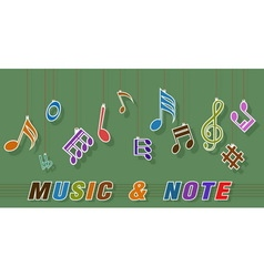 Note and music vector