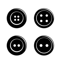 Set of simple sewing buttons icon isolated on vector image