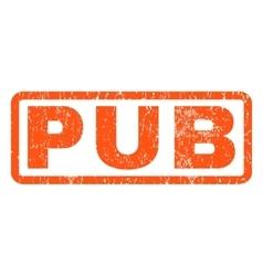 Pub rubber stamp vector