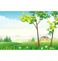 Spring or summer landscape vector