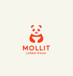 panda logo symbol design asian food icon vector image