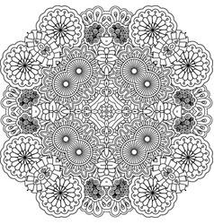Floral outline decorative element vector