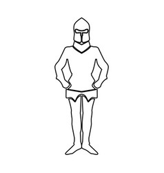 Armour black color path icon vector