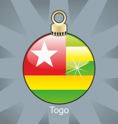 Togo flag on bulb vector