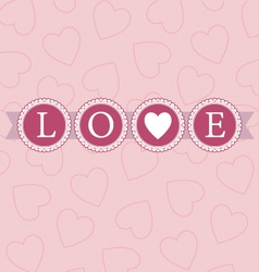 Love word circles pastel vector