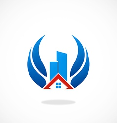 Realty building abstract logo vector