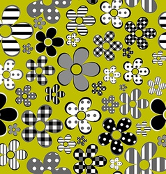 Patterned flowers background vector image