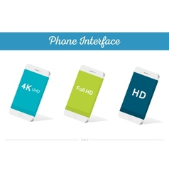 Interface 3d smartphone models with media vector