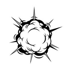 Comic boom explosion vector
