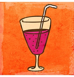 Cocktail Cartoon vector image
